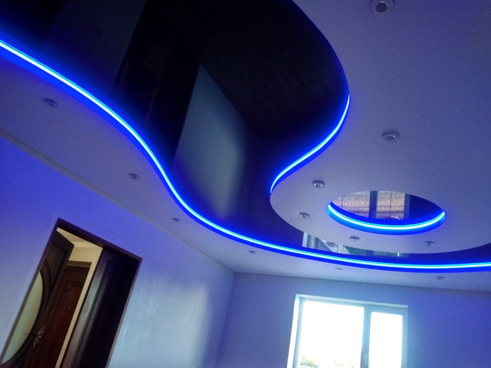 подсветка натяжных потолков