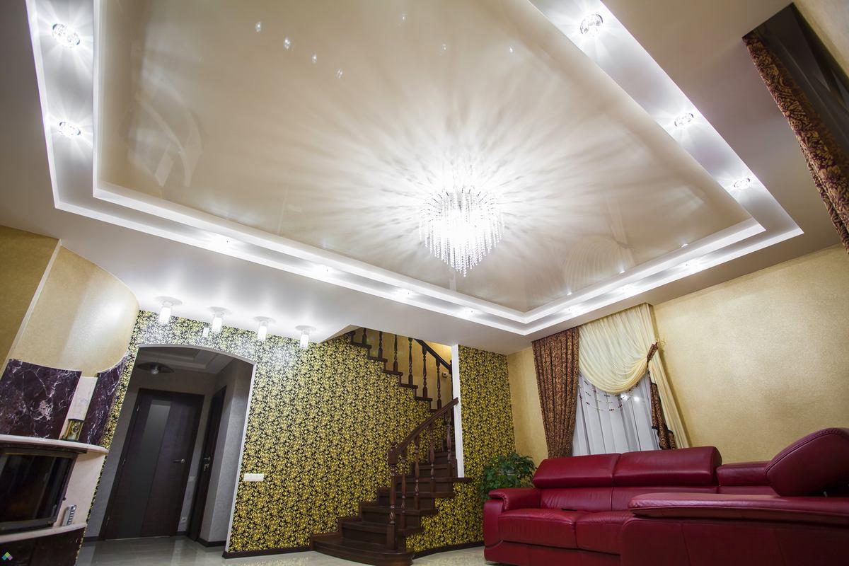 натяжной потолок полотно